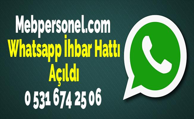 Mebpersonel.com Whatsapp İhbar Hattı