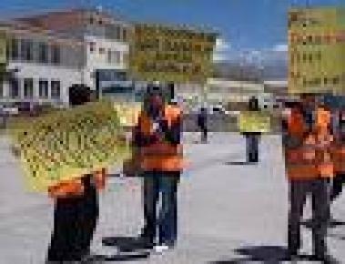AFAD öğrencileri 'kadro tanımı' isteklerini donarak dile getirdi