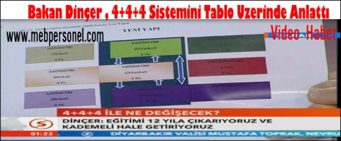 Bakan Dinçer, 4+4+4 Eğitim Sistemini Şematik Olarak Anlattı.