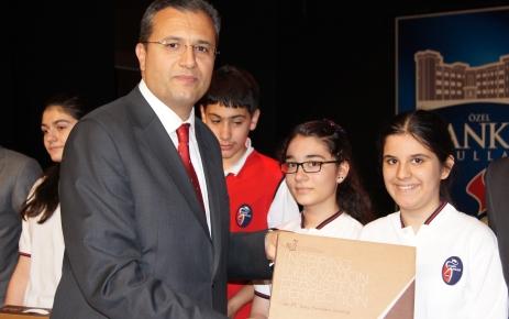Bilgi yarışmasında dereceye giren okullara ödülleri verildi