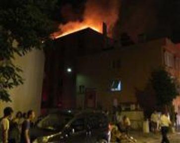 Edremit'te kız öğrenci yurdunda yangın