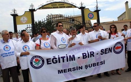 Mersin'de öğretmene dayağa eğitimcilerden tepki