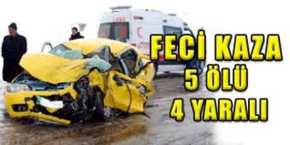 Öğretmenlerin kullandığı araç kaza yaptı: 5'i öğretmen, 9 yaralı