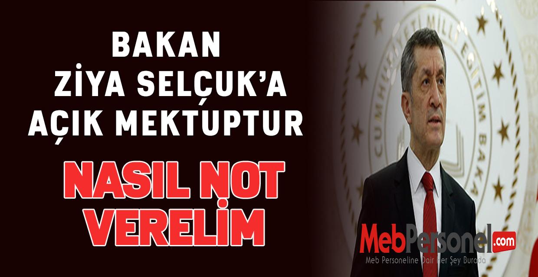 Bakan Ziya Selçuk'a açık mektuptur.Nasıl Not  Verelim.