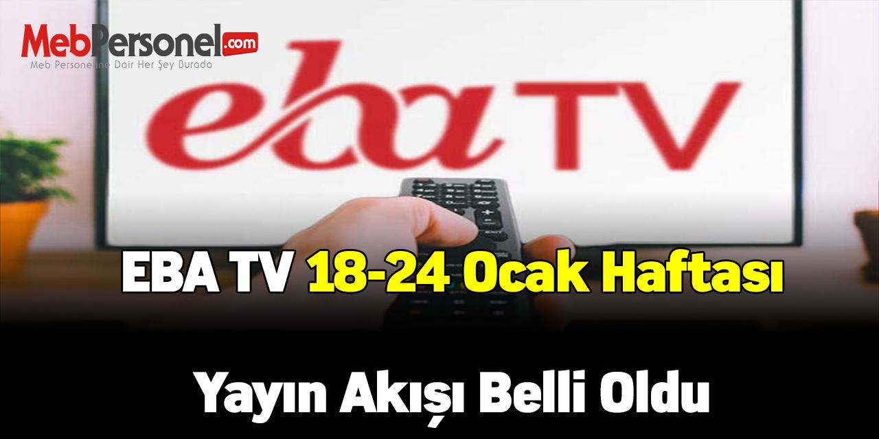 TRT EBA TV 18-24 Ocak Haftası İçin Yayın Akışı Belli Oldu