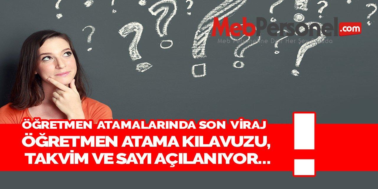 Öğretmen Atamalarında Kılavuz ve Kontenjan Gelecek Hafta!