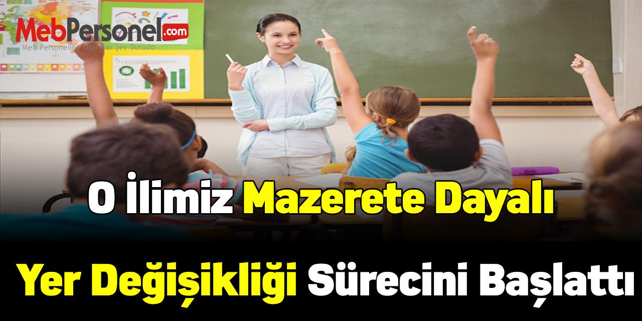 İstanbul İl MEM mazerete dayalı yer değişikliği sürecini başlattı