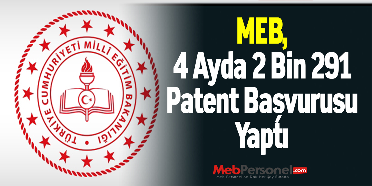 MEB, 4 Ayda 2 Bin 291 Patent Başvurusu Yaptı