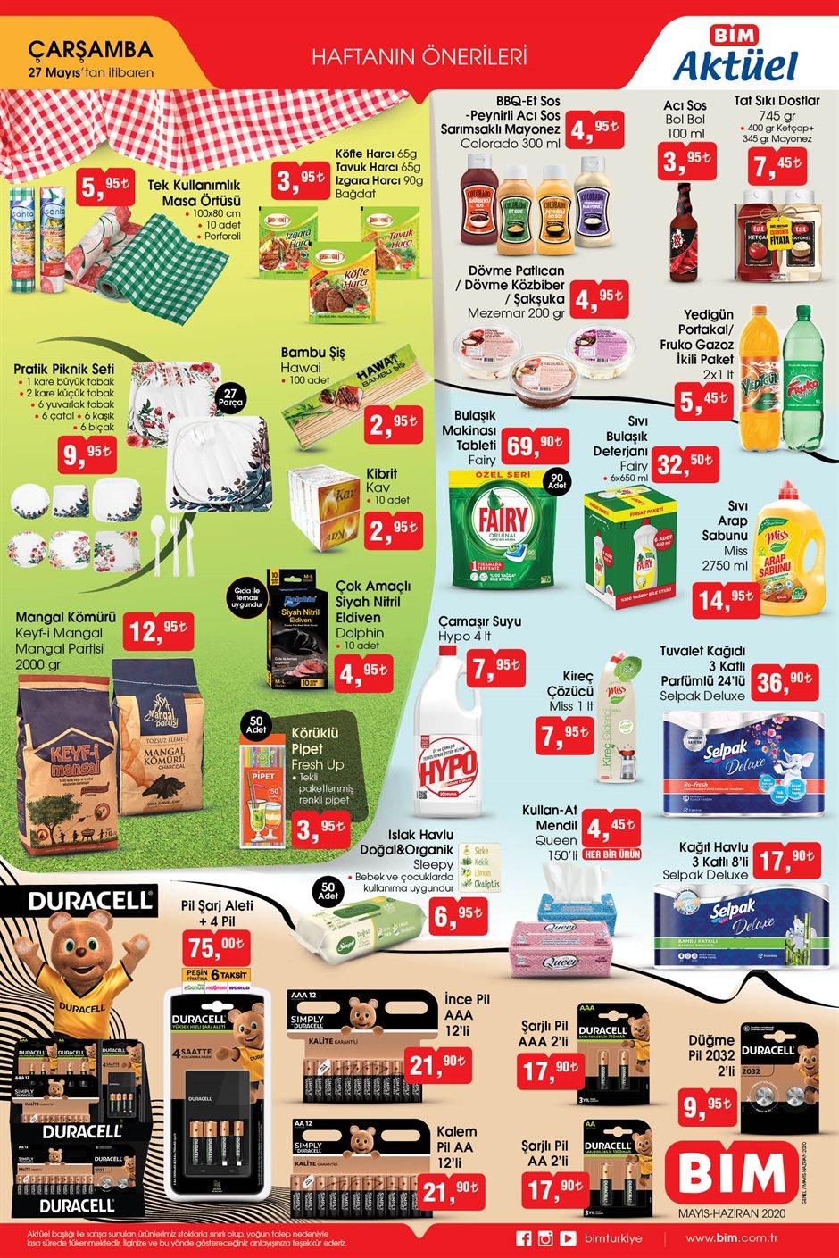 BİM aktüel ürünler kataloğu 27 Mayıs indirimleri belli oldu