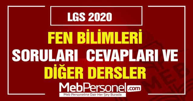 LGS Sınav Soruları Türkçe  2020