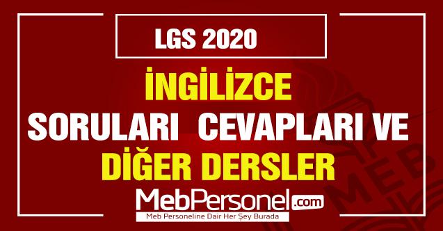 LGS Fen Bilimleri Soruları ve Cevapları 2020