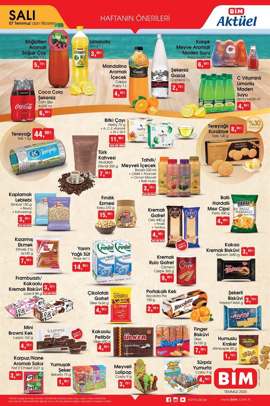 BİM Aktüel Ürünler Kataloğu Yayımlandı 7 Temmuz indirimleri