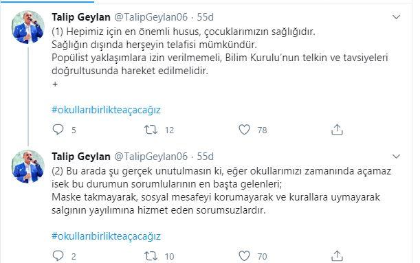 Genel Başkan Talip Geylan:'Eğer okullarımızı zamanında açamaz isek..'