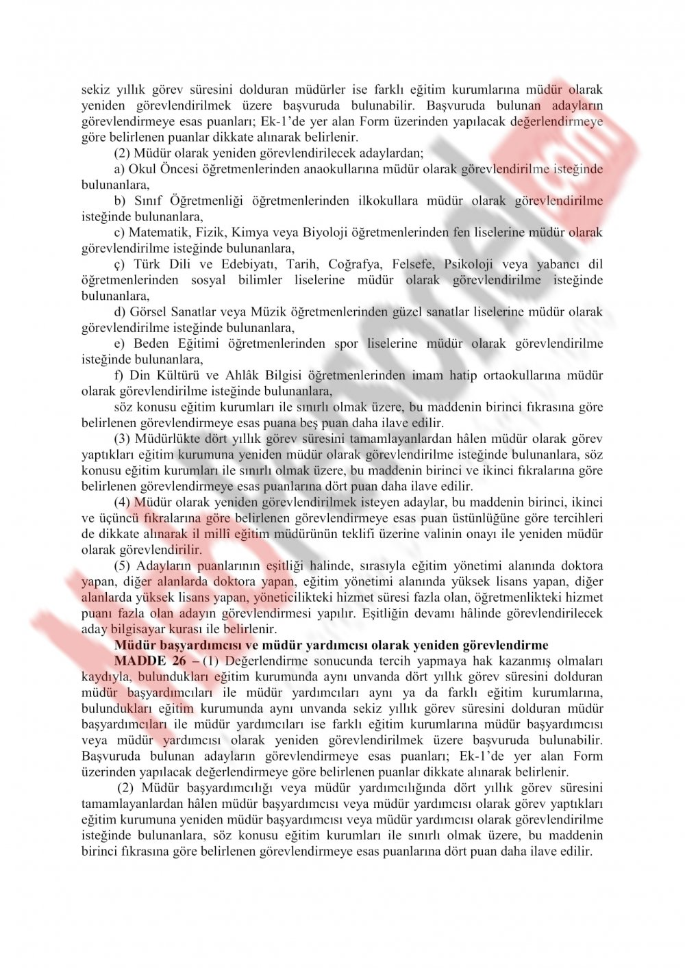 MEB Yönetici Atama Yönetmeliği Değişiyor..İşte o yeni taslak..