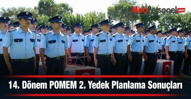 14. Dönem POMEM 2. Yedek Planlama Sonuçları Yayımlandı