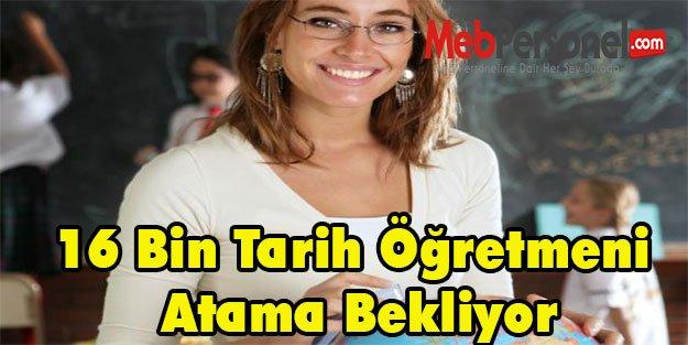 16 Bin Tarih Öğretmeni Atama Bekliyor