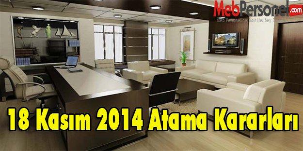 18 Kasım 2014 Atama Kararları