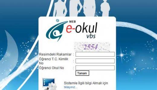 2012 2013 I. Dönem Online  E Okul Veli Bilgilendirme  Karne Sorgulama Sistemi