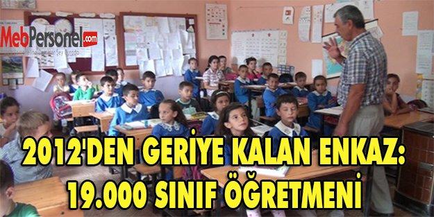 2012'DEN GERİYE KALAN ENKAZ: 19.000 SINIF ÖĞRETMENİ