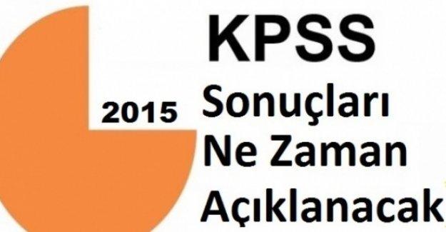 2015 KPSS Sonuçları Ne Zaman Açıklanacak ?
