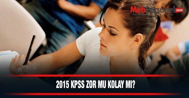KPSS Soruları Zor muydu kolay mıydı 2015
