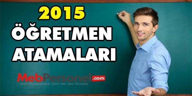2015 Öğretmen Atamaları - MEB Son Durum