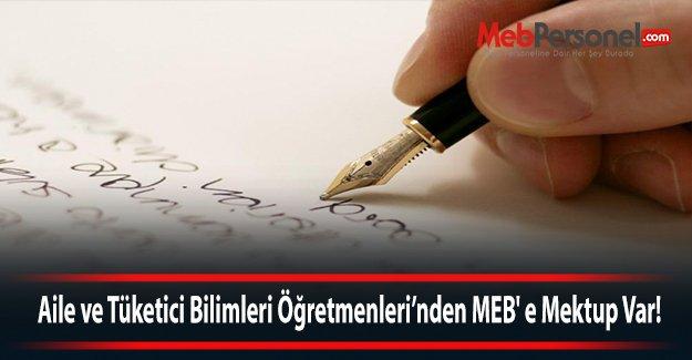 Aile ve Tüketici Bilimleri öğretmenlerinden MEB' e mektup var!
