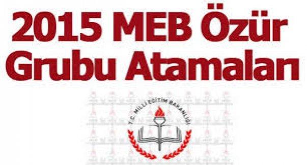 MEB Özür Grubu Atama Tercih Başvuru İşlemleri 2015 20 Ağustos