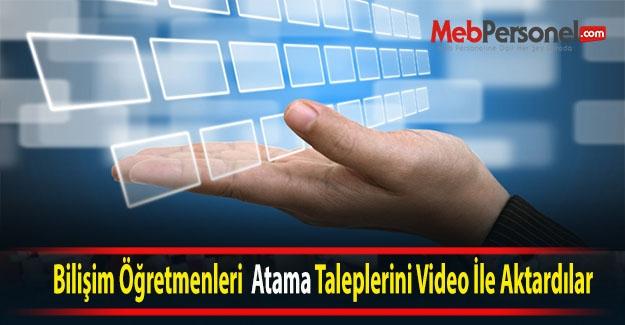 Bilişim Öğretmenleri Taleplerini Video İle Aktardılar