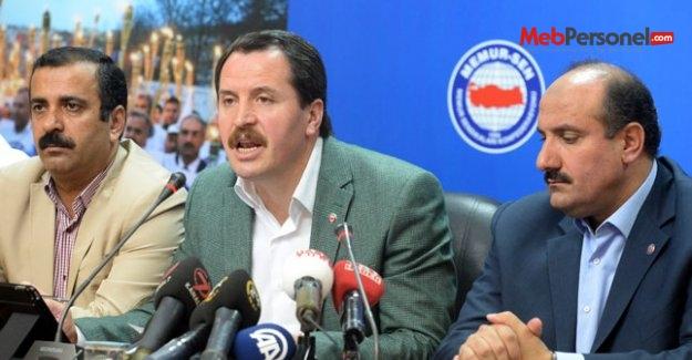 Yalçın, toplu sözleşme'ye ilişkin basın toplantısı'nda konuştu