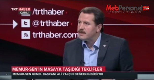 Yalçın TRT Haber'de Toplu Sözleşme Sürecini Değerlendirdi