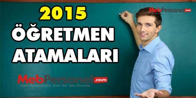 Öğretmen Atama Kontenjanları - Kılavuzu - Başvuru Ekranı (2015 MEB)