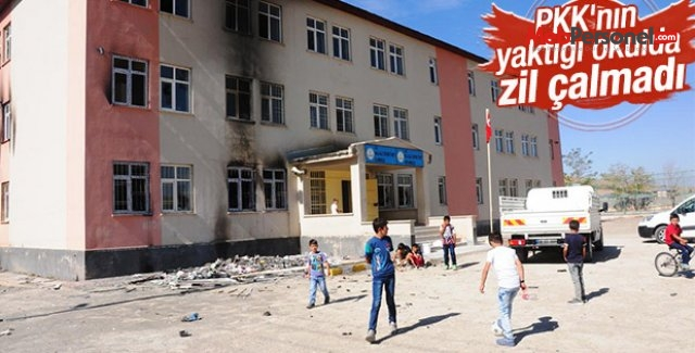 Van'da yakılan okulda ders başı yapılamadı