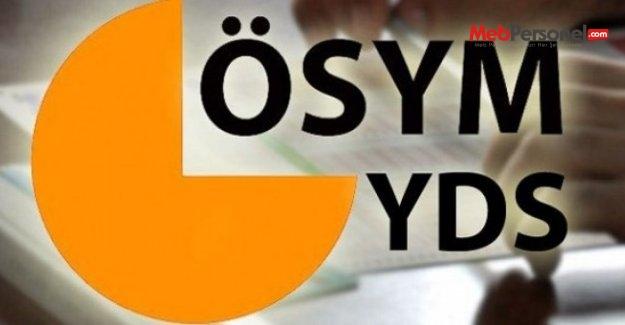 YDS sınava giriş belgeleri yayımlandı
