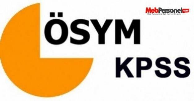 2016 KPSS Sınav Çizelgesi - ÖSYM Takvimi