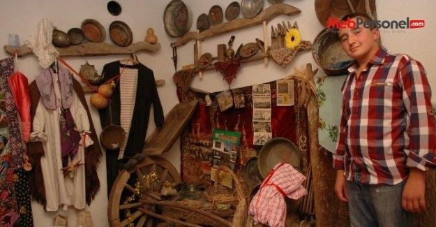 """Lise Öğrencisi """"Köy Müzesi"""" Kurdu"""