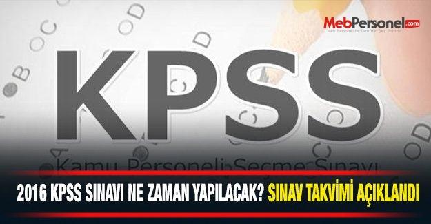 ÖSYM Sınav Takvimi - KPSS Ne Zaman?- 2016