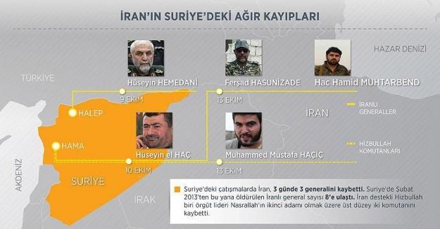 Suriye'de 2013'ten bu yana öldürülen İranlı general sayısı 8'e ulaştı