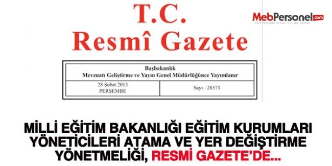 Yönetici Atama Yönetmeliği 2015 Yayınlandı MEB
