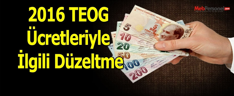 Ali Yalçın'dan 2016 TEOG Ücretleriyle İlgili Düzeltme