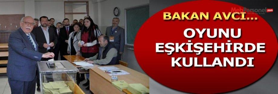 Bakan AVCI Oyunu Eskişehir'de Kullandı