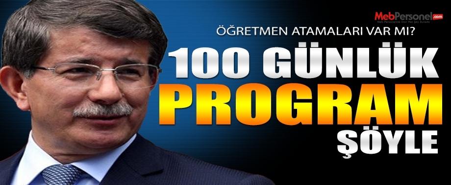 İşte hükümetin 100 günlük programı