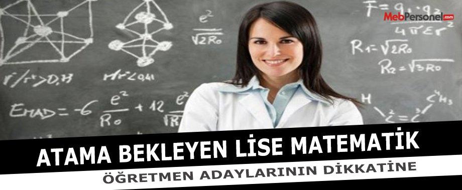 Lise Matematik Öğretmenliği Branş Kontenjan Analizi İçin Bize Yazın