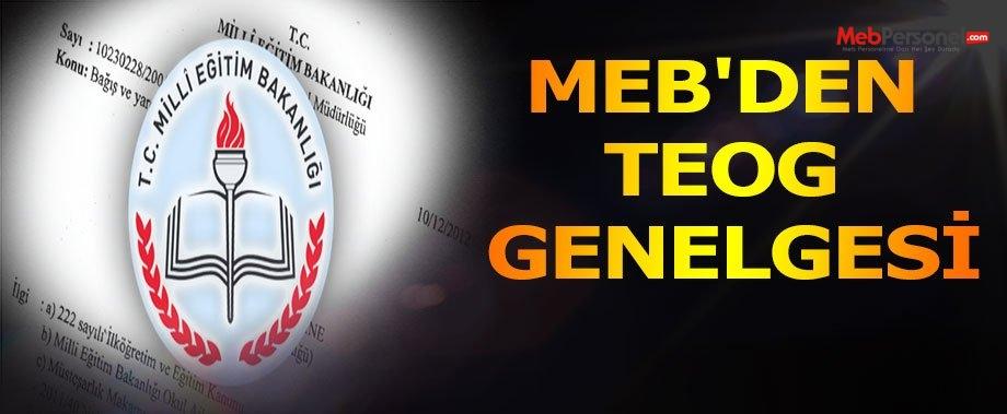 MEB'den ''TEOG'' Genelgesi