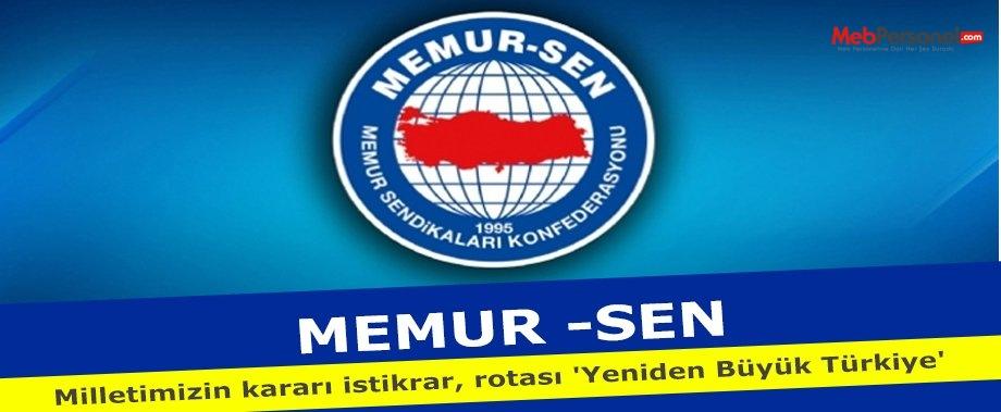 Memur-Sen'den ''1 Kasım Seçimleri'' Açıklaması