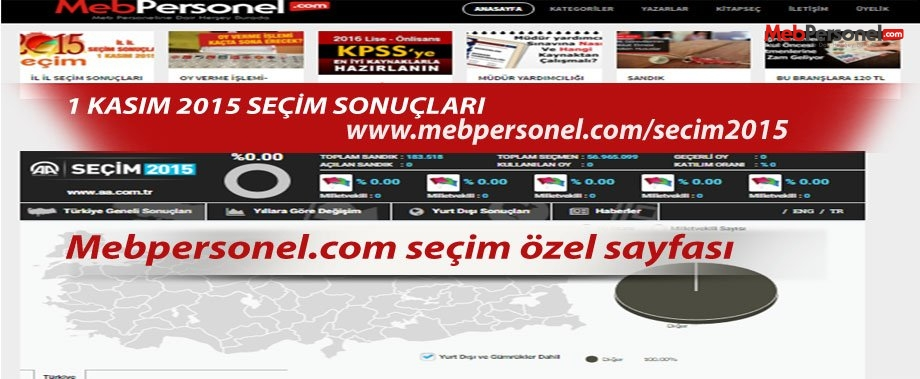 Seçim Sonuçları Türkiye Geneli 2015 1 Kasım  Sonuçları
