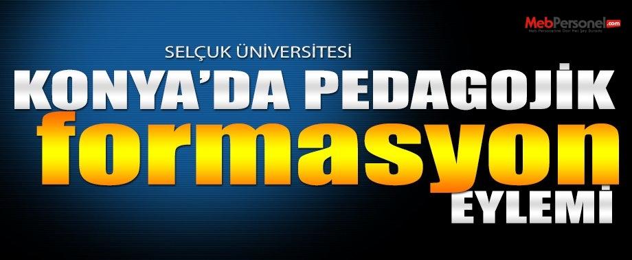 Selçuk Üniversitesi FEF ve Besyo Öğreniclerinden Formasyon Eylemi