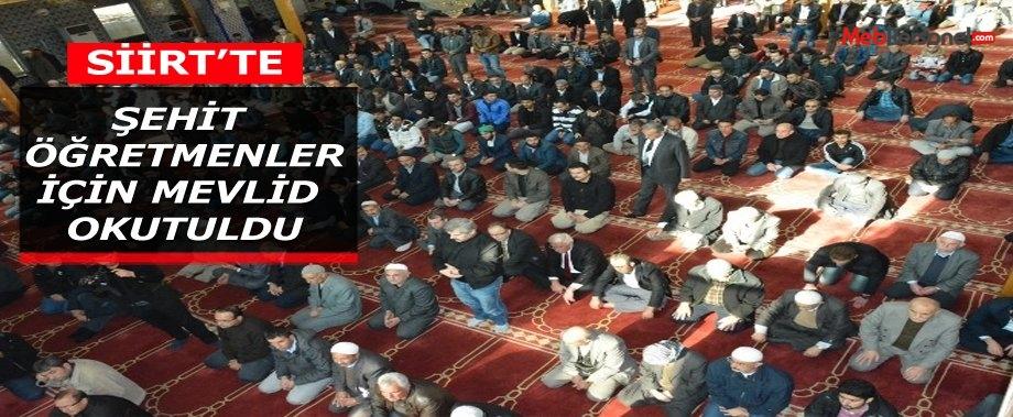 Siirt'te Şehit Öğretmenler İçin Mevlit Okutuldu
