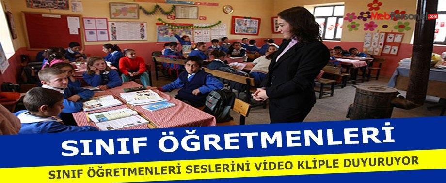 Sınıf Öğretmenleri  Seslerini Video  Kliple Duyurmaya Çalışıyor