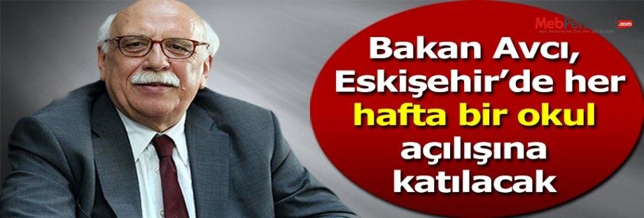 'Eskişehir'de her hafta yeni bir okul açılacak'